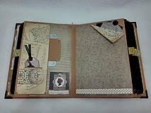 Papiernictvo - Dovolenkový steampunk fotoalbum pre cestovateľov - veľký, luxusný - 8467960_