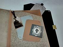 Papiernictvo - Dovolenkový steampunk fotoalbum pre cestovateľov - veľký, luxusný - 8467961_