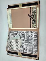 Papiernictvo - Dovolenkový steampunk fotoalbum pre cestovateľov - veľký, luxusný - 8467962_