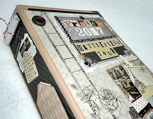 Dovolenkový steampunk fotoalbum pre cestovateľov - veľký, luxusný