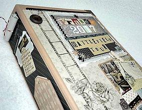 Papiernictvo - Dovolenkový steampunk fotoalbum pre cestovateľov - veľký, luxusný - 8467954_