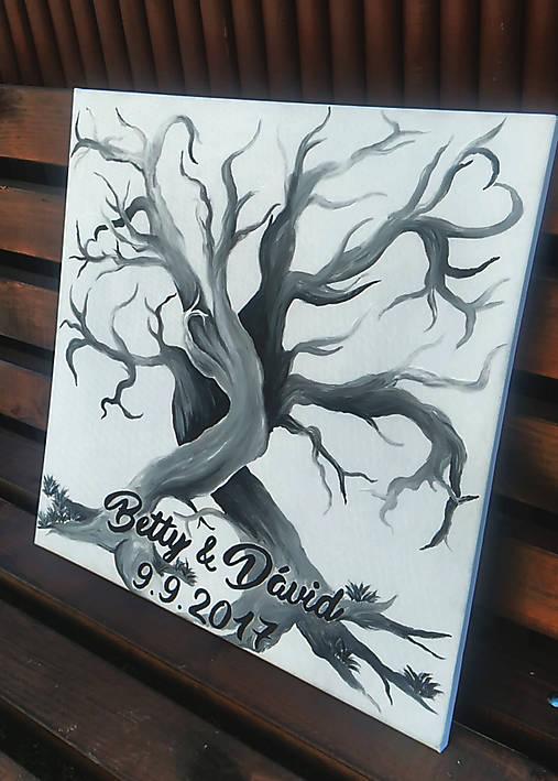 0e697e7e1 Svadobný strom na odtlačky / cedulkovo - SAShE.sk - Handmade Obrazy