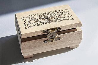 Krabičky - Drevená šperkovnica - malá - 8467570_