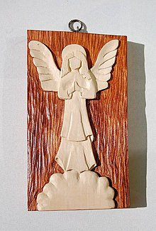 Socha - Modliaci sa anjel - 8469667_