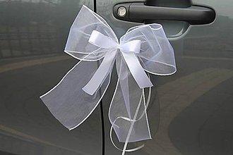 Dekorácie - mašle na kľučky auta - 8470395_