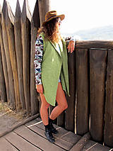 - Aztec green peas cardigan - 8467835_
