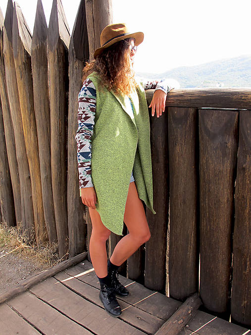 Aztec green peas cardigan