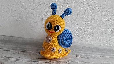 Hračky - slimáčik ( žltý) - 8469890_
