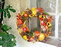 Dekorácie - Jesenný veniec - 8472619_