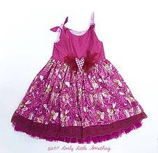 Detské oblečenie - Vílové postriebrené bordovky - 8471096_