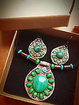 Sady šperkov - set Malachit - 8470634_