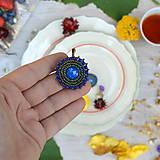 Náušnice - Blue&Iris earrings - 8472232_