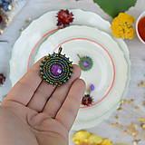 Náušnice - Fuchsia&Iris earrings - 8472246_
