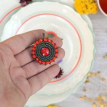 Náušnice - Red&Iris earrings - 8472237_