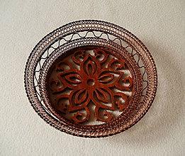 Dekorácie - Drôtená miska Z dreva kvet - 8471435_