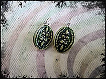 Náušnice - Zelené ....č.162 - 8471468_