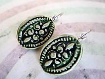 Náušnice - Zelené ....č.162 - 8471471_