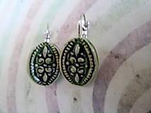 Náušnice - Zelené ....č.162 - 8471472_