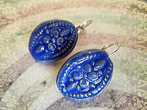 Náušnice - Modré....č.149 - 8471556_