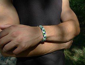 Šperky - Pletený náramok - Borovicový háj - 8472259_