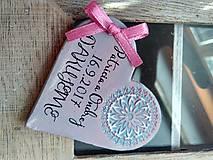 Darčeky pre svadobčanov - svadobné magnetky so vzorom - 8472114_