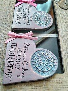 Darčeky pre svadobčanov - svadobné magnetky so vzorom - 8472113_