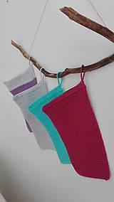 Úžitkový textil - Háčkovaná rukavica do sprchy a na kúpanie - malina - 8470765_