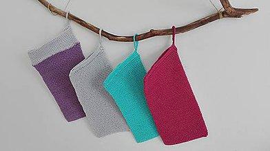 Úžitkový textil - Háčkovaná rukavica do sprchy a na kúpanie - tyrkys - 8470815_