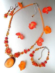 Sady šperkov - Tagua naranja - 8470824_