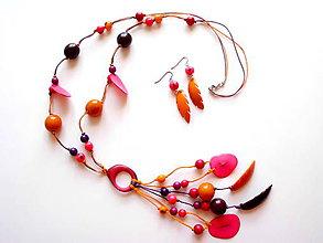 Sady šperkov - Collar de semillas II. - 8470954_