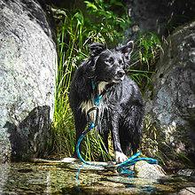 Pre zvieratká - Lanové vodítko ORIGINAL OUTDOOR // indigo 10 mm - 8471728_