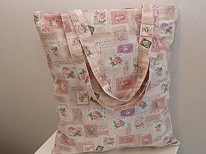 Nákupné tašky - ..ružové známky.. - 8471139_
