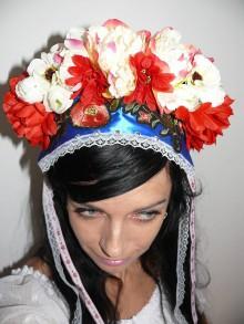 Ozdoby do vlasov - svadobny veniec parta - 8472352_