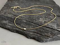 Náhrdelníky - 585 / 14k zlatý náhrdelník s prírodnou perlou - 8475344_