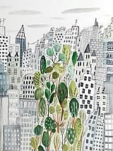 - Mesto  New York -  ilustrácia obraz / originál maľba - 8473334_
