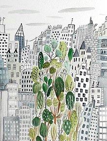 Obrazy - Mesto  New York -  ilustrácia obraz / originál maľba - 8473334_