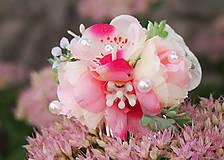 - Ružový lúčny hrebienok do vlasov - 8475759_