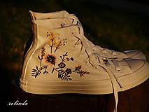 Obuv - Žluté kvítí - malba na vlastní boty - 8472996_