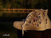 Obuv - Žluté kvítí - malba na vlastní boty - 8472997_