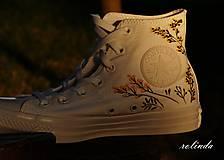 Obuv - Žluté kvítí - malba na vlastní boty - 8472998_