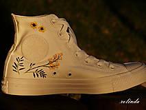 Obuv - Žluté kvítí - malba na vlastní boty - 8472999_