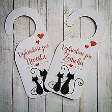 Darčeky pre svadobčanov - Visacky na dvere - 8474789_