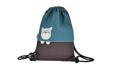 Detské tašky - Batoh mačička TYRKYS - 8473494_