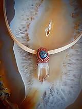 Náhrdelníky - Horský krištáľ a Lapis Lazuli - 8473183_