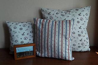 Úžitkový textil - Sada námorníckych obliečok na vankúše II. - 8475726_