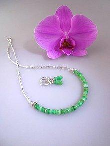 Sady šperkov - chryzopras náhrdelník náušnice - 8476071_