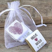 Darčeky pre svadobčanov - Čokoládky Stopa v srdci - 8475412_