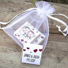 Darčeky pre svadobčanov - Čokoládky Mesačná láska - 8475433_
