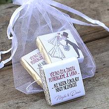 Darčeky pre svadobčanov - Čokoládky Sladká láska - 8475460_
