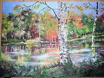 Obrazy - Krajina za riekou - 8475329_